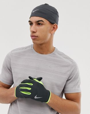 Nike Running – Dry – Set mit Mütze und Handschuhen in Grau