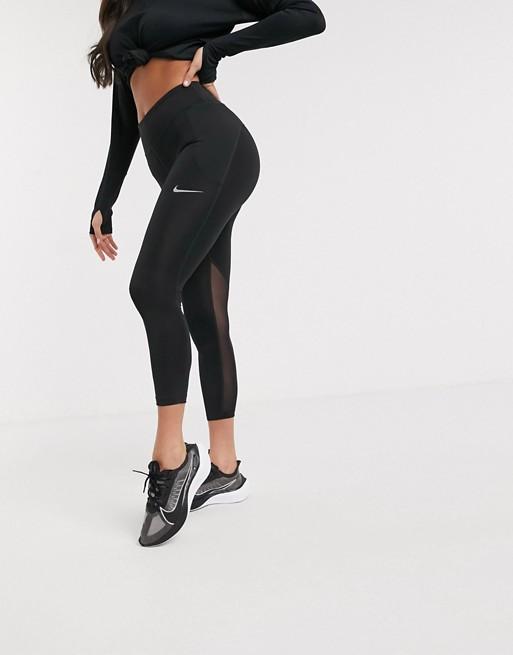 Nike Running Fast Tight cropped leggings in black