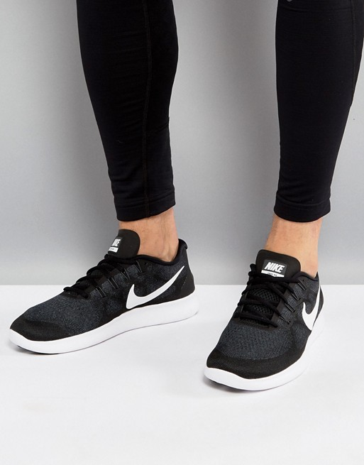 Home; Nike Running Free Run 2017 sneakers in black 880839-001. image.AlternateText