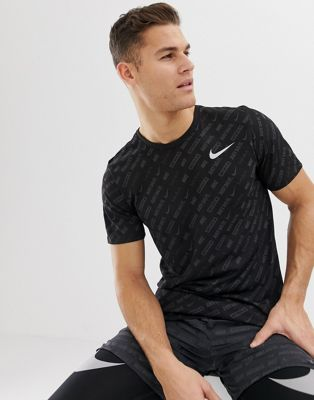 Image 1 of Nike Running Just Do It All Over Print In Black AA9384-010