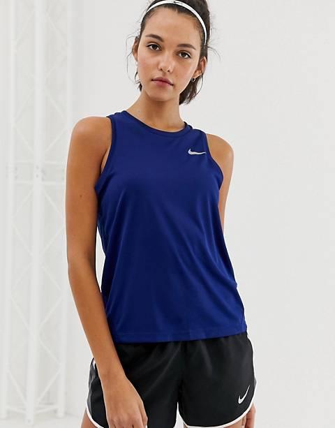 Nike Running – Miler – Blaues Tanktop