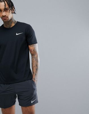 Nike Running Miler Dri-Fit T-Shirt In Black 833591-010