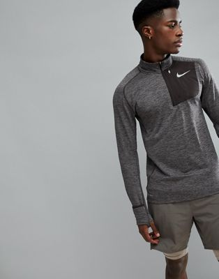 Nike Running Therma Sphere Element Half Zip Sweat In Brown 857829-202