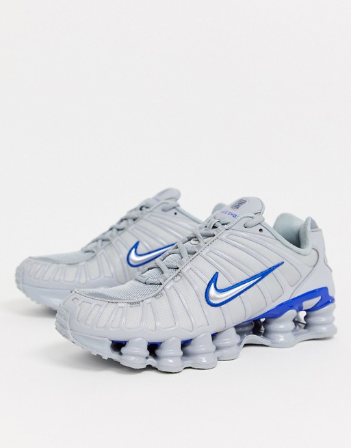 Nike - Shox TL - Baskets - Gris et bleu