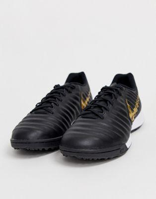 Nike Soccer legendx astro turf boots in black