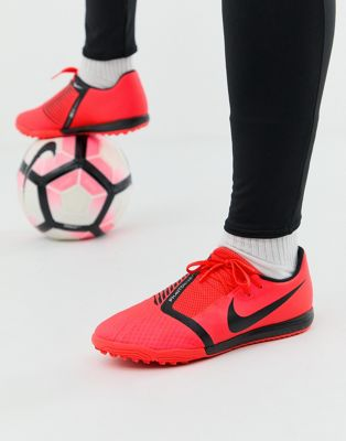 Nike Soccer phantom venom astro turf boots in red