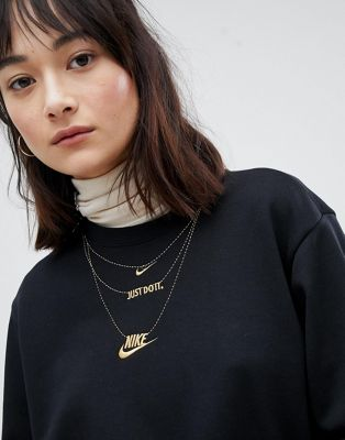 Nike Sweatshirt With Jewellery Embroidery