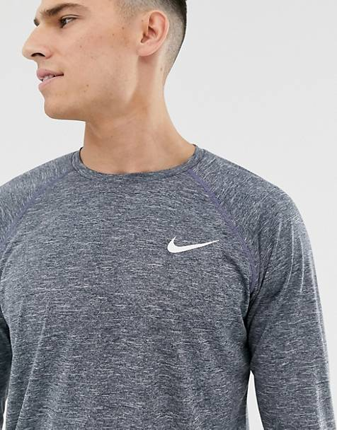 Nike Swimming –  Hydroguard – Langärmliges Shirt in Marine