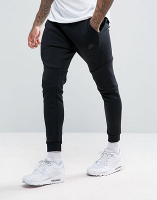 Nike Tech Fleece Skinny Joggers In Black 805162-010