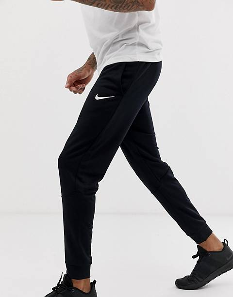 Nike Training dri-fit fleece tapered sweatpants in black 860371-010