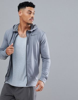 Nike Training Dri-Fit Hoodie Fleece Sweat In Grey 742210-065