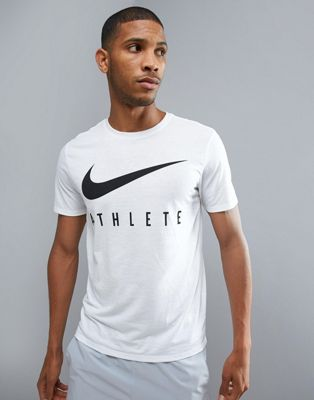 Nike Training Dry Athlete Logo T-Shirt In White 739420-100
