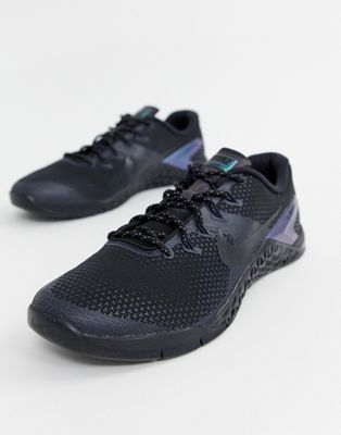 Image 1 of Nike Training Metcon 4 trainers in black ah7454-001
