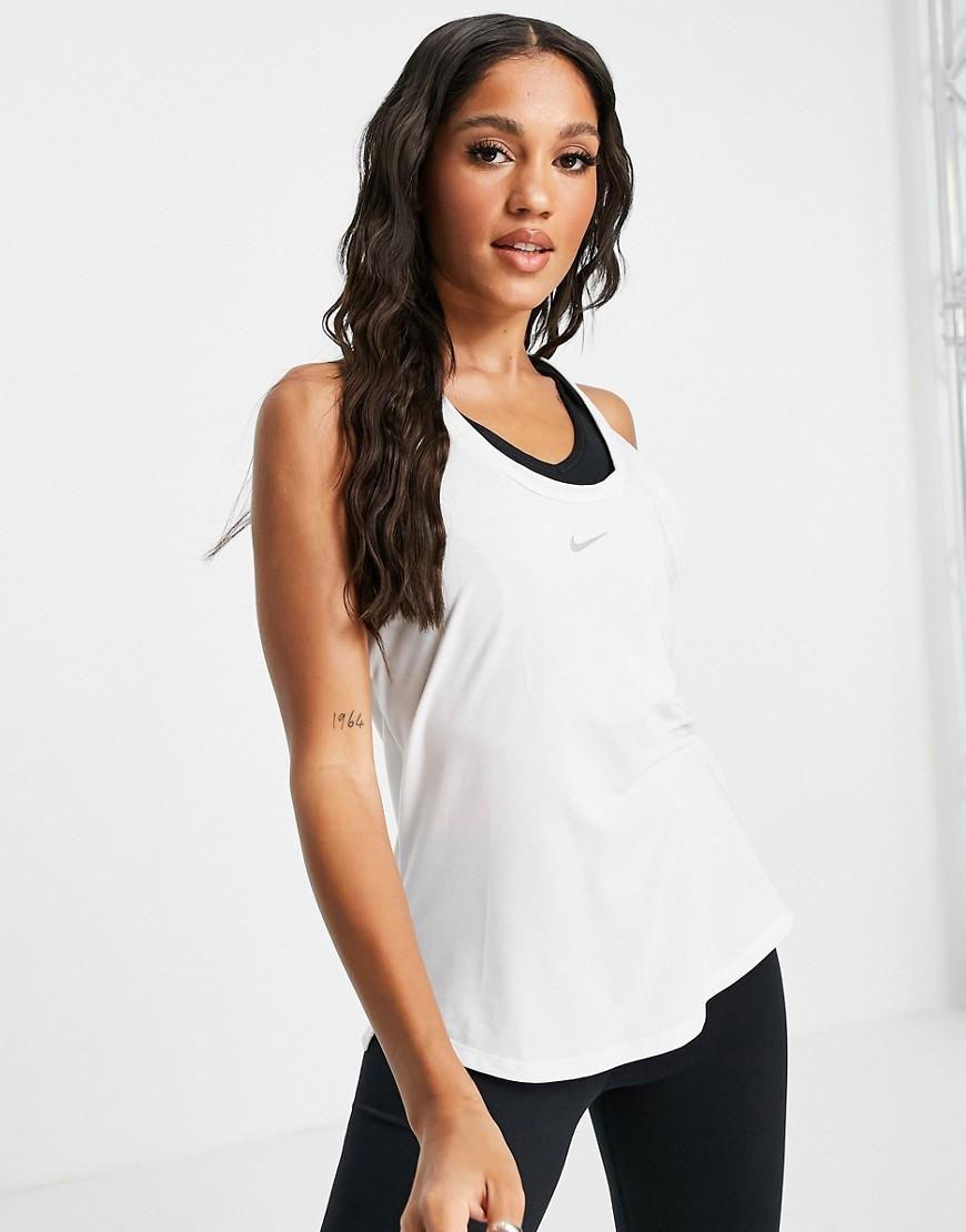 Nike Training - One Luxe - Hvid tanktop med snoet ryg