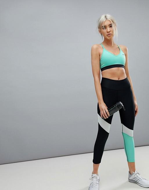 in Power Leggings Capri Minzgrün Training Nike Blockfarben mehrfarbig mit wcYZ6H5q