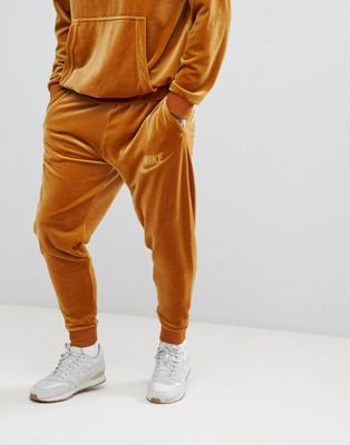 Image 1 of Nike Velour Joggers In Gold AH3388-722