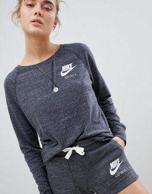 Nike – Vintage-Sweatshirt in Grau