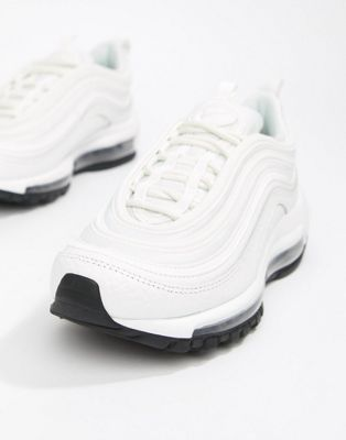Nike White And Black Leather Air Max 97 Sneakers