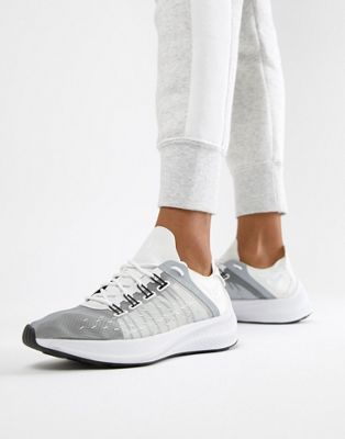 Nike White And Grey Future Fast Racer Sneakers