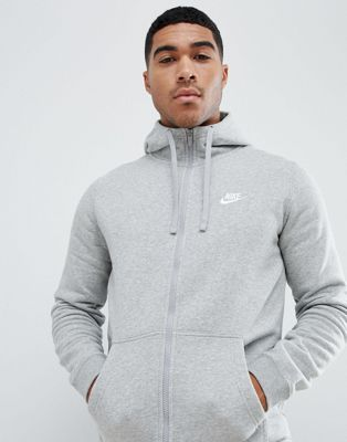 Nike Zip Up Hoodie With Futura Logo In Grey 804389-063
