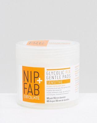 NIP+FAB – Glycolic Fix Gentle Sensitive Exfoliating Pads – Milda exfolierande pads
