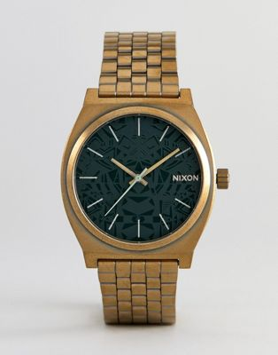 Nixon A045 Time Teller Bracelet Watch In Gold