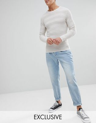 Image 1 of Noak Double Pleat Tapered Jean in Light Wash