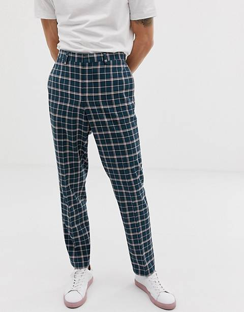 Noak - Geruite slim-fit cropped pantalon