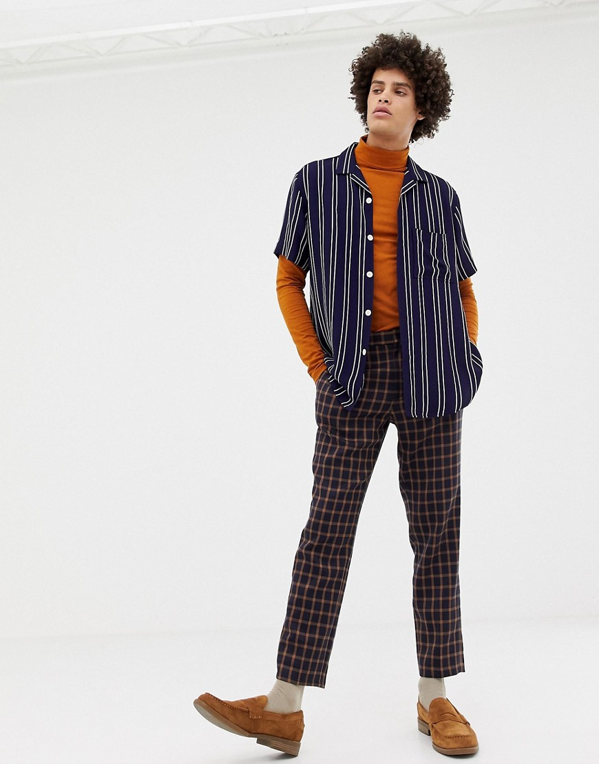 Noak Revere Shirt In  Stripe by Noak