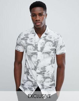 Afbeelding 1 van Noak - Skinny overhemd met reverskraag in bloemenprint