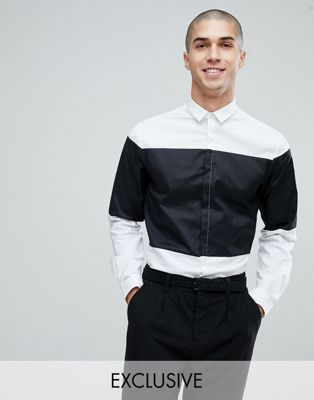 Noak Slim Shirt In Cut and Sew