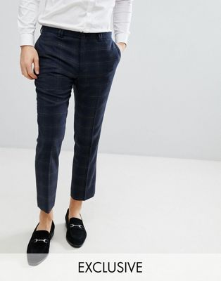 Noak Slim Wool Mix Cropped Pant