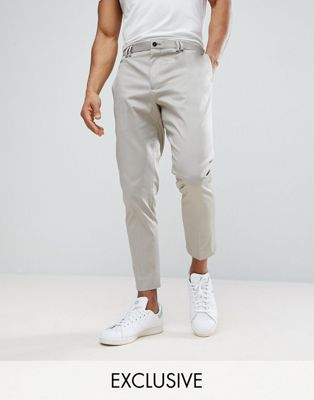 Noak Smart Tapered Chino In Stone