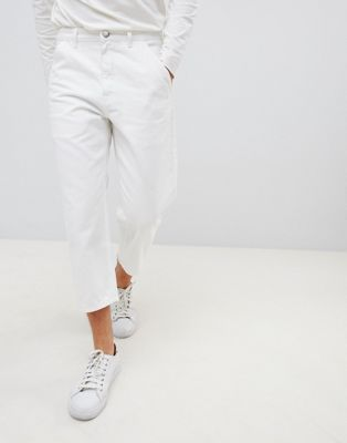 Noak straight leg cropped jeans in white