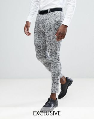 Noak Super Skinny Suit Pants In Jersey