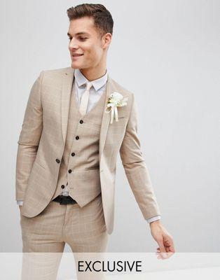 Noak - Veste de costume de mariage slim à carreaux