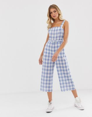 Nobody's Child cami jumpsuit in gingham