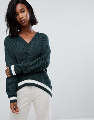 Noisy May Chevron Knit Jumper