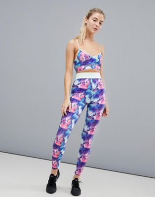Image 1 of Noisy May Printed Gym Legging