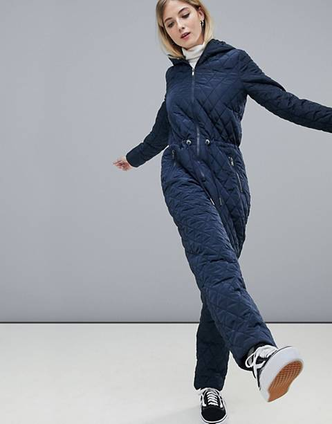 Noisy May quilted boilersuit