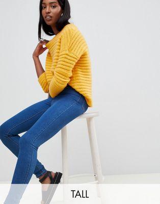 Noisy May Tall - Jean skinny taille haute - Bleu