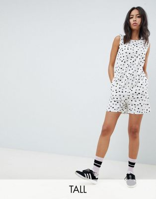 Noisy May Tall Polka dot Romper