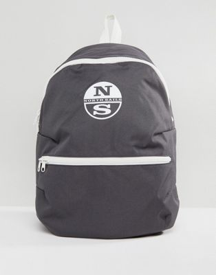 North Sails Logo Backpack in Grey
