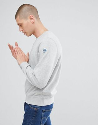 North Sails Patch Logo Sweatshirt in Grey