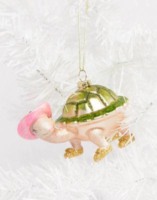 Новогоднее елочное украшение в виде черепахи Sass & Belle