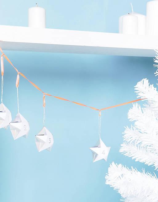 Новогодний адвент-календарь с пронумерованными звездами Meri Meri