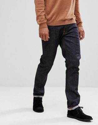 Nudie Jeans Co Dude Dan straight fit jeans in dark blue
