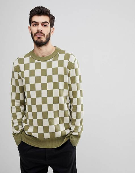 Nudie Jeans Co Elof checkerboard sweater