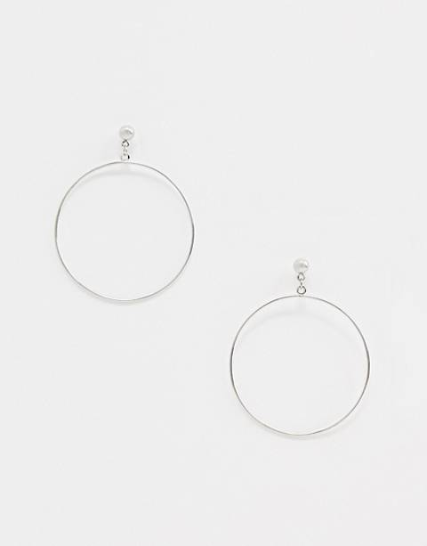 Nylon hoop earrings