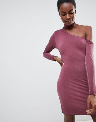 NYTT Olivia Choker Neck One Sleeved Bodycon Dress